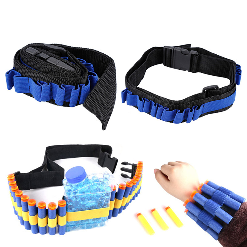 Blue Kids Toy Gun Bullet Shoulder Strap Darts Ammo Storage Holder For Nerf For Soft Water Bandolier Toy Gun
