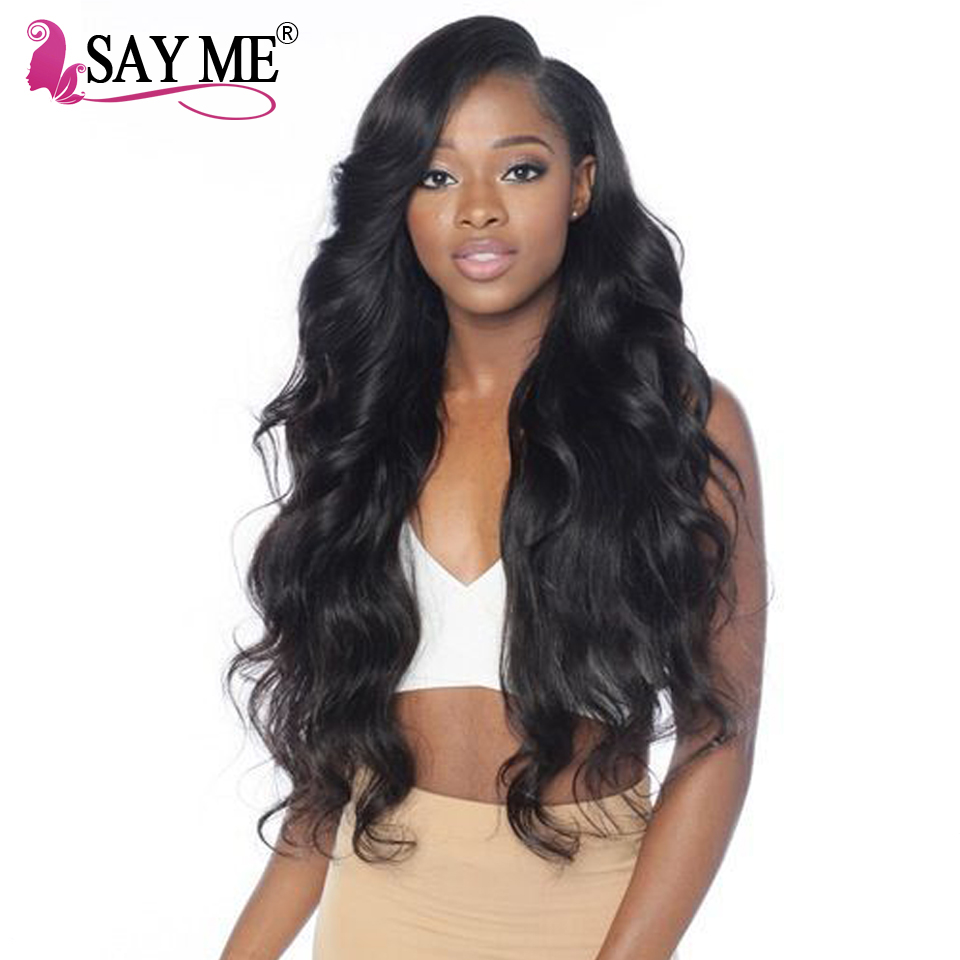 Brazilian Body Wave Human Hair Weave Bundles Non Remy Can Buy 3 4 Bundles Human Hair Bundles With Closure SAY ME Hair Extensions