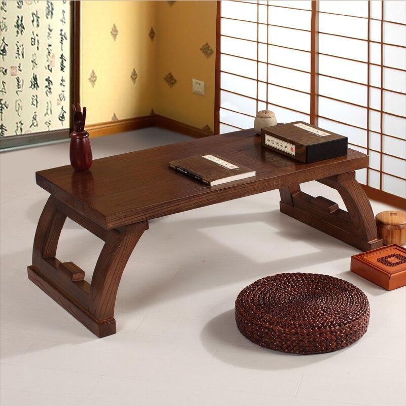 Elm Wood Furniture Chinese Gongfu Tea Table Retangle 120cm Living Room  Furniture Modern Small Low Long