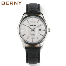 2017 BERNY New mens casual fashion watches leather