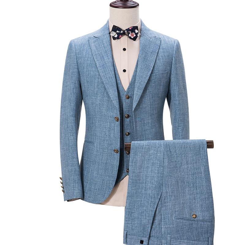 La MaxPa (dzseki + nadrág + mellény) 2017 Top divat márka férfi öltöny tavaszi őszi karcsú prom prom üzleti party esküvői férfi ruha öltöny