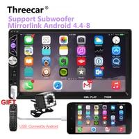 Mirror link Android 8.0 2 din car radio autoradio 7'' Multimedia Player Bluetooth handsfree FM/TF/USB Rearview Camera Car Radio