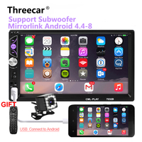 Mirror link Android 8.0 2 din car radio autoradio 7'' Multimedia Player Bluetooth handsfree FM/TF/USB Rearview Camera Car Radio