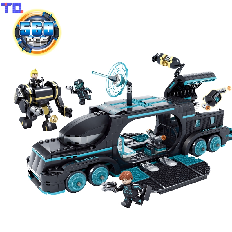 Kazi 560 PCS City War X-Agents Armor Chariot Car Model Mech Robot Building Block Kids Toys Gift Brinquedos Compatible with Legoe kazi 608pcs pirates armada flagship building blocks brinquedos caribbean warship sets the black pearl compatible with bricks