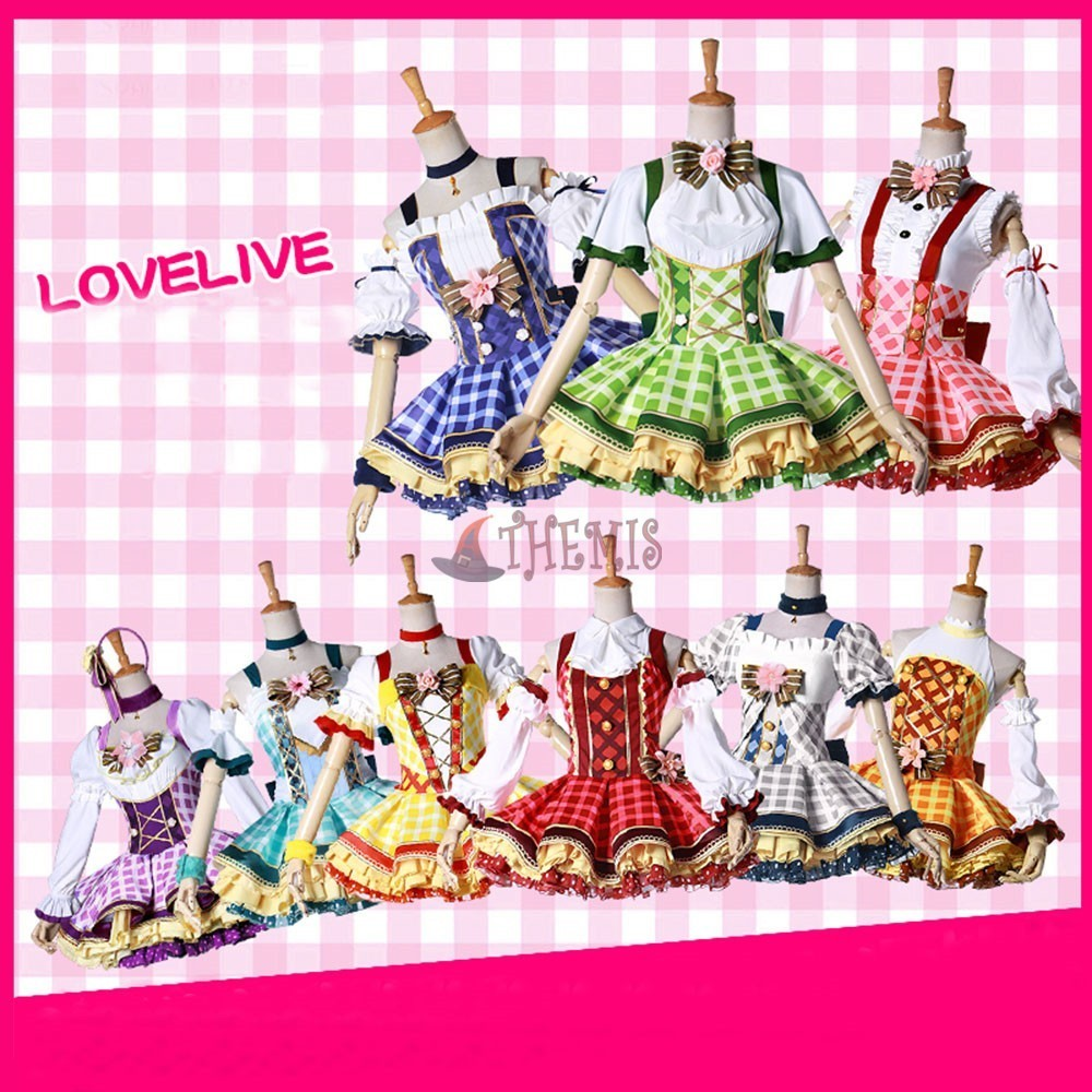 MMGG Anime 2018 Love live!! cosplay  Bouquet Hand Flower Awaken All Members Full set cosplay costume  Dress New