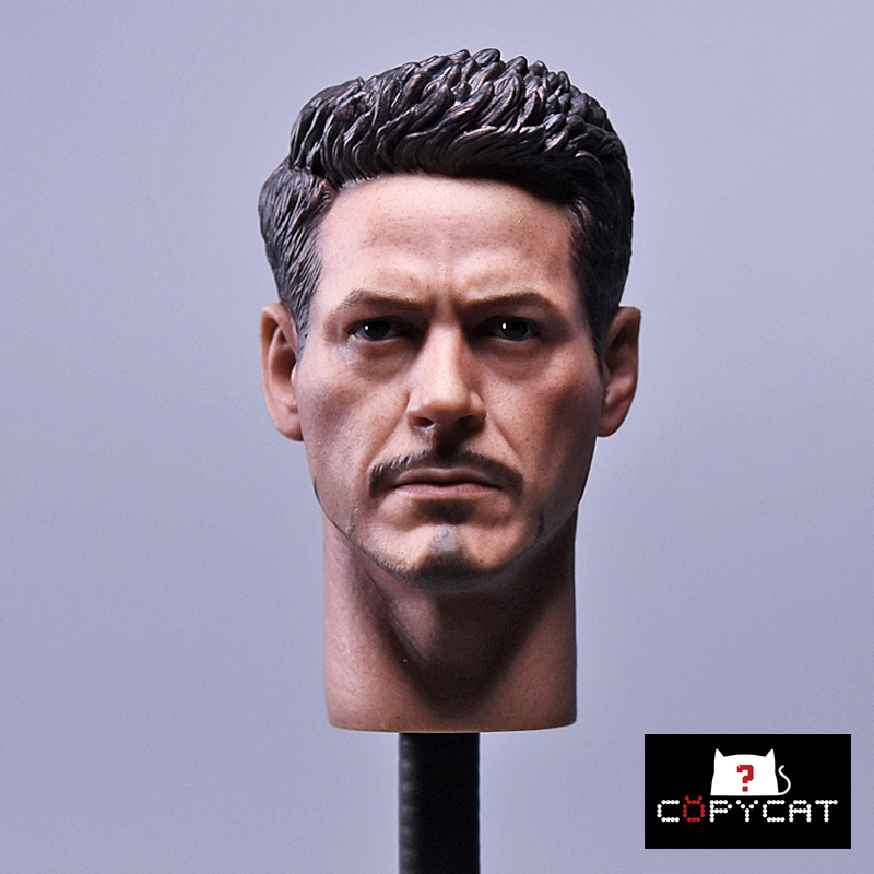 1/6 scale Head Sculpt Iron Man Tony Stark Fit HT 12