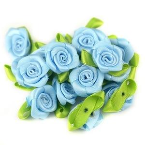 Image 5 - 50 teile/los 2CM Künstliche Seide Mini Rose Blume Köpfe Machen Satin Band Handmade DIY Handwerk Scrapbooking Für Hochzeit Dekoration