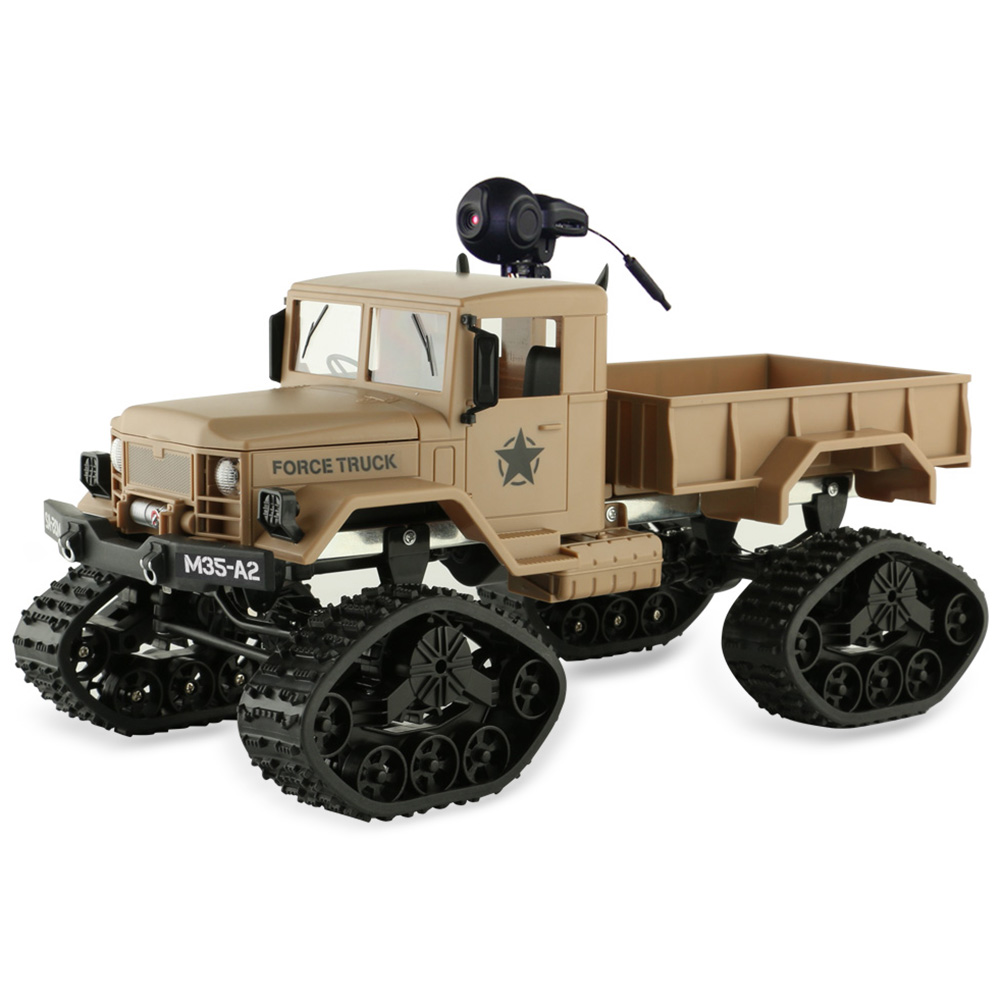 1/16 Scale 2.4G 4WD RC Off-Road Car With 0.3MP WiFi Camera Brushed Off-Road Truck Snow Tires With Front Light RTR цены
