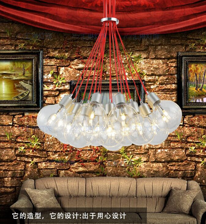 aliexpresscom buy free ship multi head of the red bubble chandelier pendant lamp for decor sitting room bedroom restaurant studynot include bulbs from - Multi Bedroom Decor