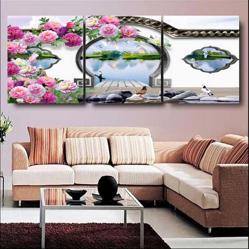 CANVAS PAINTING Moderní citronově zelené přírodní ovoce na zdi Art Cuadros Picture Home Decor for restaurant No Frame 3 Panels