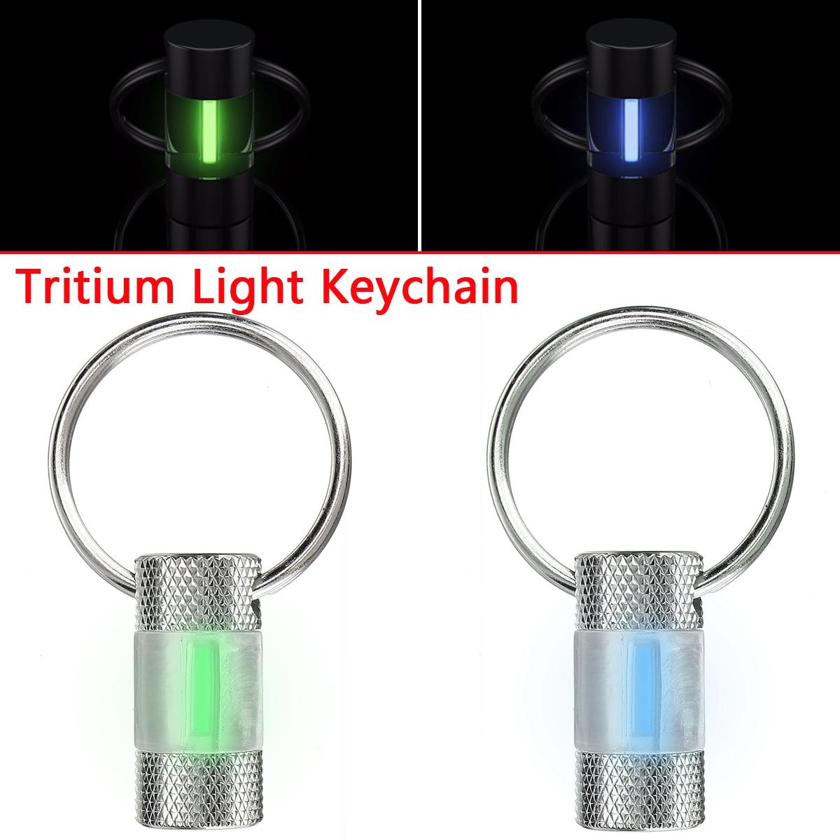 Automatique Lumière 10 Ans Tritium Trousseau Clé Anneau Tube Fluorescent pour En Plein Air De Sauvetage D'urgence Lumières