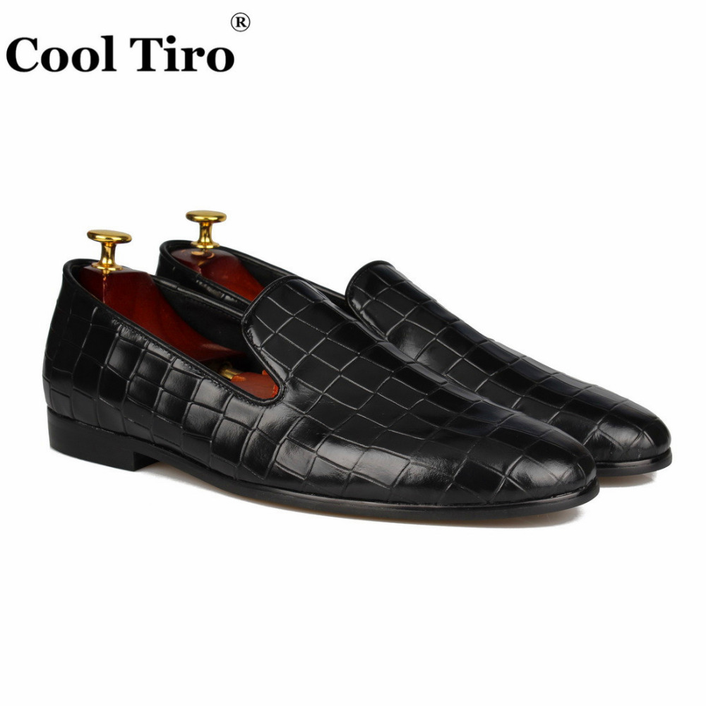 COOL TIRO  New arrival Handmade Black stone pattern Patent leather men shoes luxurious party and wedding mens shoes men loafersCOOL TIRO  New arrival Handmade Black stone pattern Patent leather men shoes luxurious party and wedding mens shoes men loafers