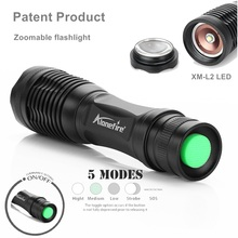 AloneFire E007 LED Flashlight ZOOM Bike Light CREE XM-L2 4000LM Zoomable Torch Flashlight Super Bright Military Light Lamp