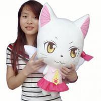 Large 58cm Anime Fairy Tail Charles Lulu Plush Toy Kawaii Happy & Charles Cat Stuffed Animals Doll Figure Cosplay Toys Kids Gift
