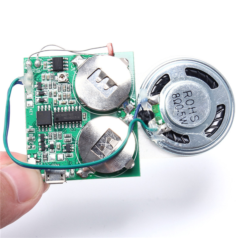 DIY Music Module For Greeting Cards Gift Box Light Chargeable/Volume Adjusting USB Download Movement Control 8M