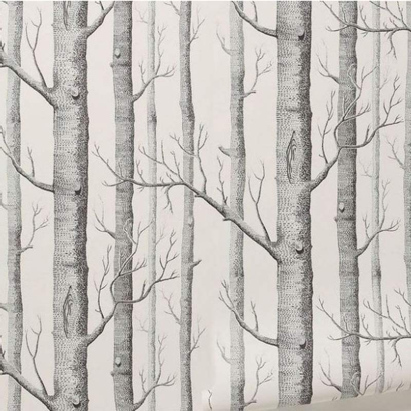 Black White Wood Forest Tree Texture 3D Embossed Flocking Non-woven Wallpaper Living Room Backdrop Wall Covering Papel De Parede taisser h h deafalla non wood forest products and poverty alleviation in semi arid region