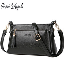 Jiessie & Angela New Brand Designer Messenger Bags Women Shoulder Purse Handbag Real Leather For Female Cross body