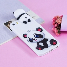 i5 Cute Case For Coque Apple iPhone 5s for 5 3D Panda Soft Silicon Back Cover iPhone5s s 5SE 5S SE