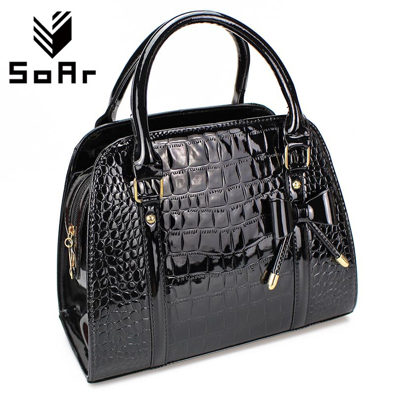 SoAr Designer Bags Famous Brand Women Bags 2017 Messenger Shoulder Bag Women Leather Handbags Black Hot Sale Bow Bolsa Feminina hot sale 2016 france popular top handle bags women shoulder bags famous brand new stone handbags champagne silver hobo bag b075
