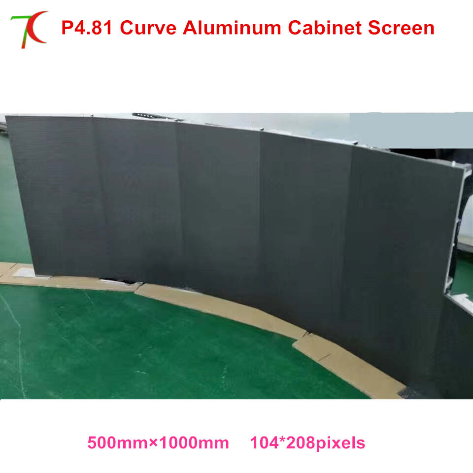 IP25 Curve Led Screen P4.81 Indoor 500*1000mm Die-casting Aluminum Cabinet Led Rental Display