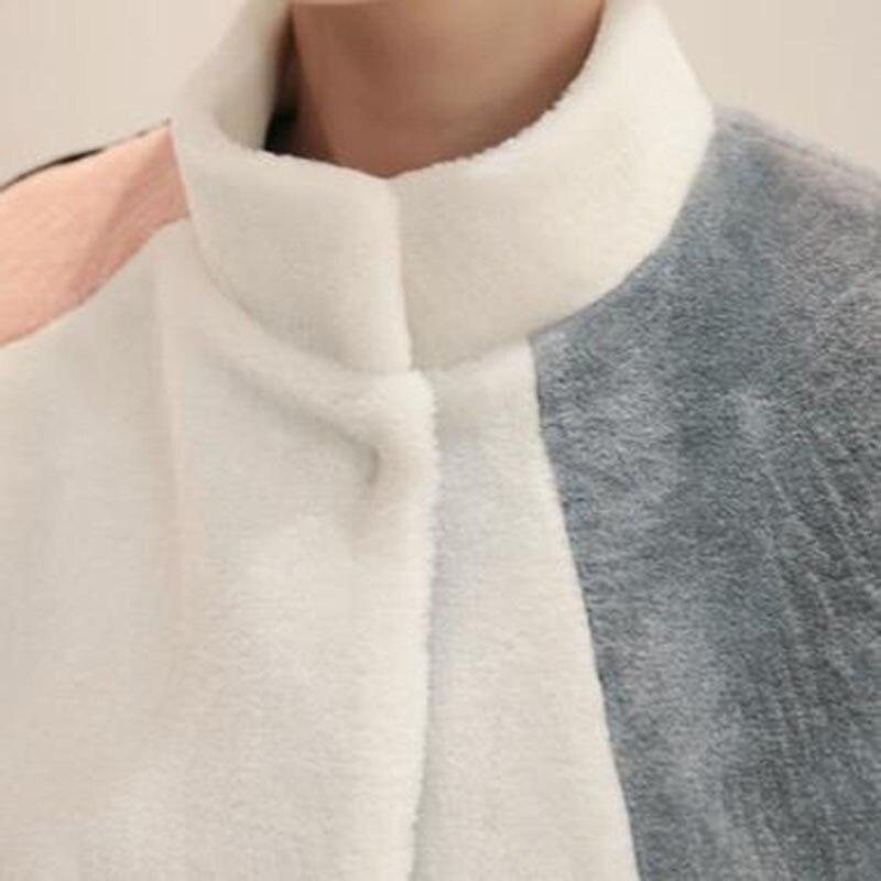 2019 Court Lutte Sur Photo Fourrure Chaud Color En De Veste Côtés Couleur Moutons Femelle Deux Paragraphe Agneau Fausse Femmes Portent D'hiver Les Manteau Épais wnqSPArwx