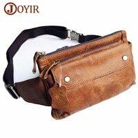 JOYIR Genuine Leather Men Waist Packs Travel Chest Bag Unisex Belt Bag Men Money Belt Waist Bag Bum Bag Fanny Pack For Women