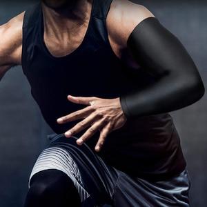 Image 2 - כדאי ספורט זרוע דחיסת שרוול כדורסל רכיבה על אופניים זרוע מתחמם קיץ ריצה UV הגנת כדורעף קרם הגנה להקות