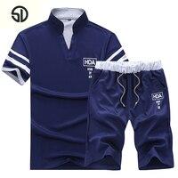 Two Piece Set Short Sleeved Men S Summer Sportwear Sets Outwear Sweatshirts Men Beach Vacation Camouflage