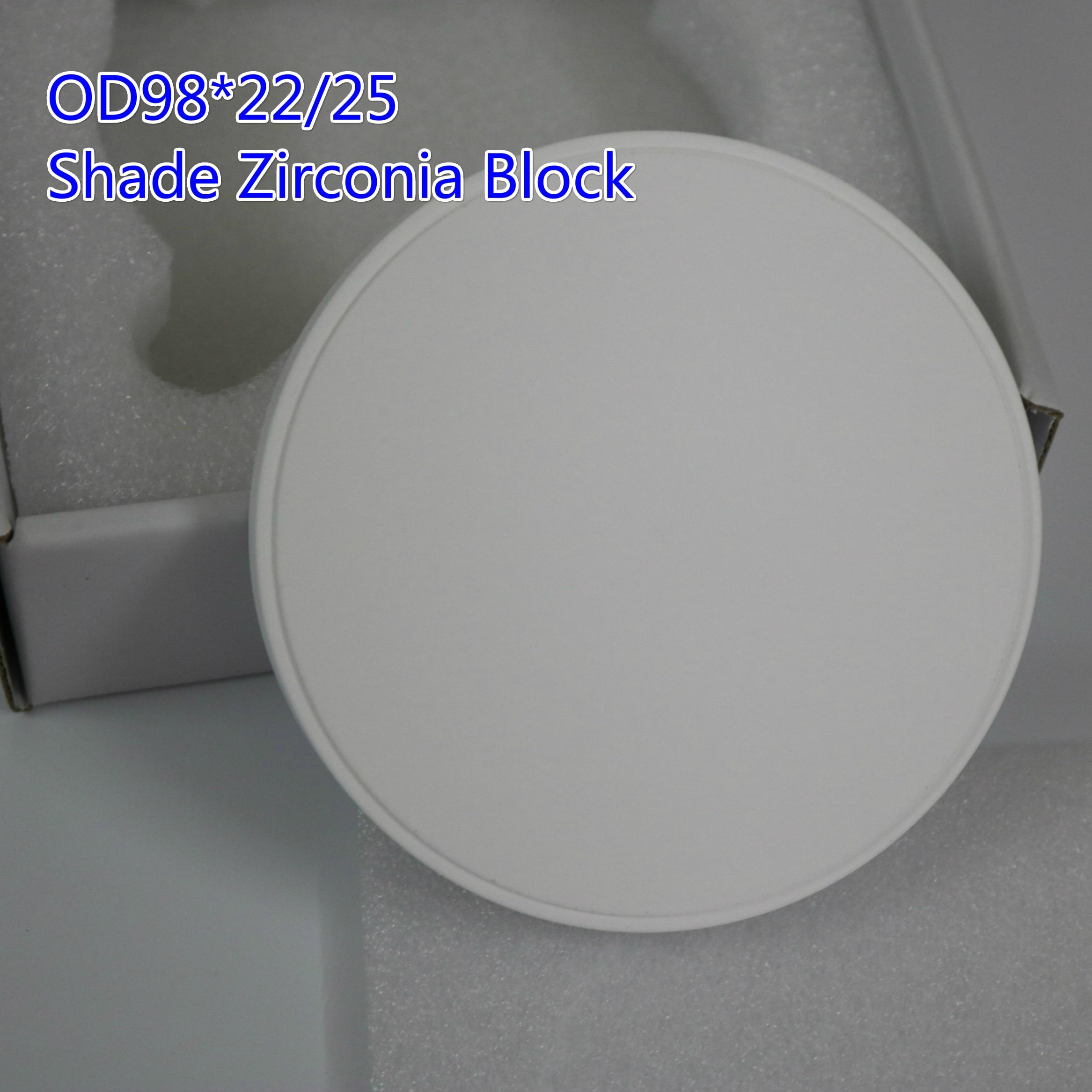 Abat-jour dentaire zircone blocs Zirconium disque Preshade zircone disques bloc CADCAM pour faire des dents en céramique de porcelaine