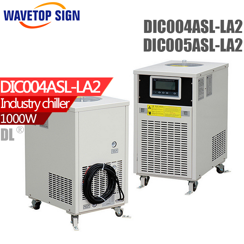 DIC004ASL-LA2 can replace CW5000 Industry Air Water Chiller for CO2 Laser Engraving Cutting Machine Cooling 80W 100W Laser Tube cw3000 laser water chiller for 60w 80w co2 laser tube laser cutting machine
