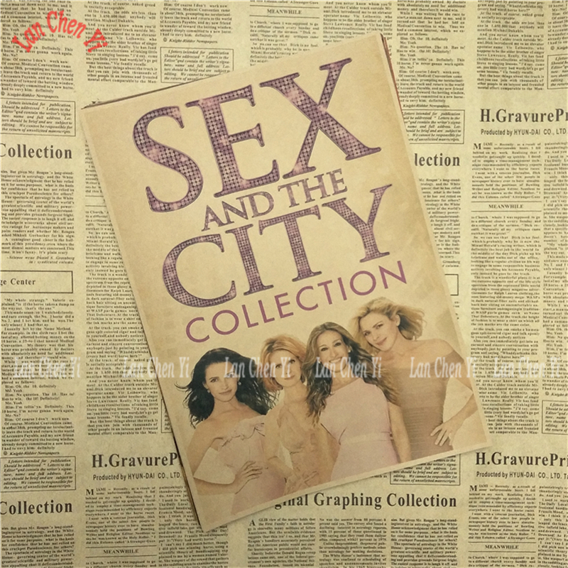 Sex and the City Movie Kraft Paper Poster Cafe Creative wallpaper Interior Decoration Free Shipping