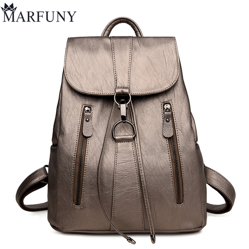 European And American Style Backpack High Quality Pu Leather Backpack Shoulder Bags Fashion Travel Backpack 2017 New Sac A Dos dikizfly new european and american style backpacks women high quality genuine leather backpack travel bags fashion mochila