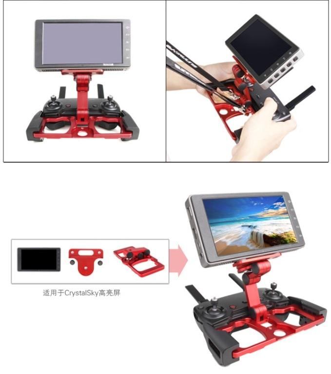 Support de télécommande DJI Drone support de fixation cristalsky extensible support de tablette de téléphone support de montage en métal pour DJI Mavic 2 - 4