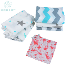 ФОТО EGMAO BABY /lot Muslin 100 Cotton Baby Blanket Life Shower Sleeping Bath Towel Infant Aden Anais Envelopes  borns