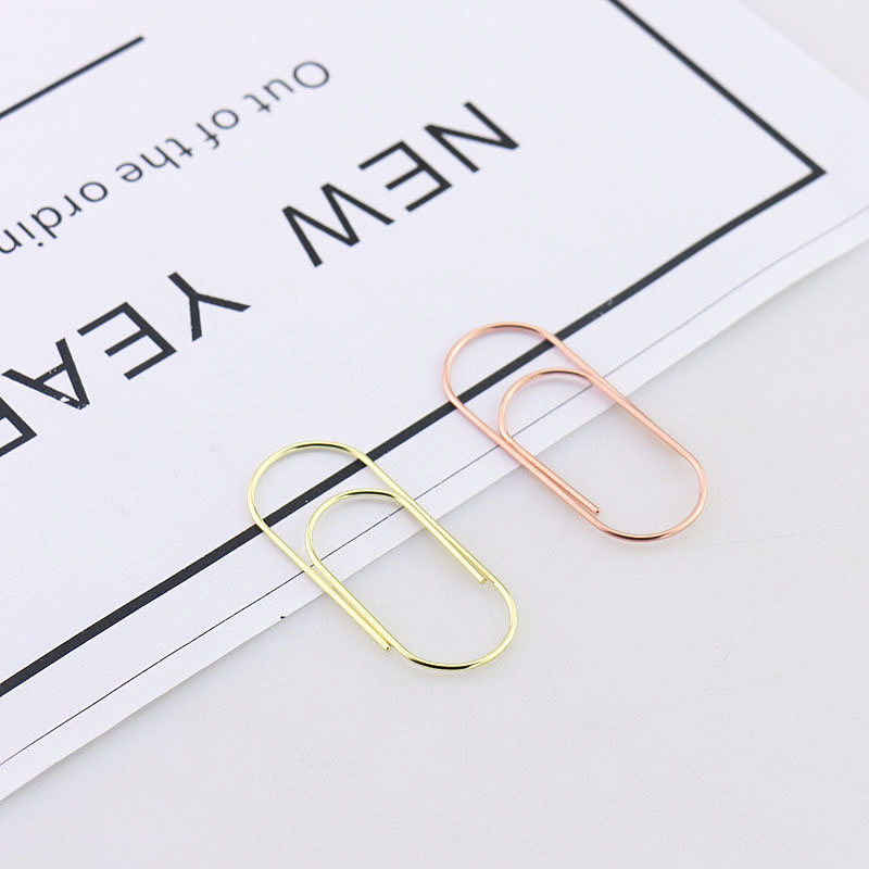 TUTU factory supply 25pcs 12pcs 50x20mm large size paper clips 5 colors available large wide paper clips on Promotion H0180 in Clips from Office School Supplies