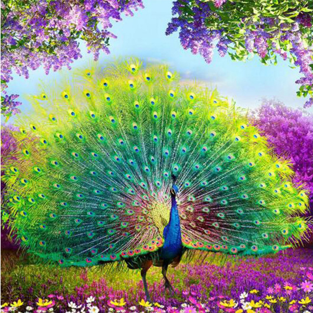 Colourful Mosaic Embroidery Diamond 5D Diy Art Paintings Square Full