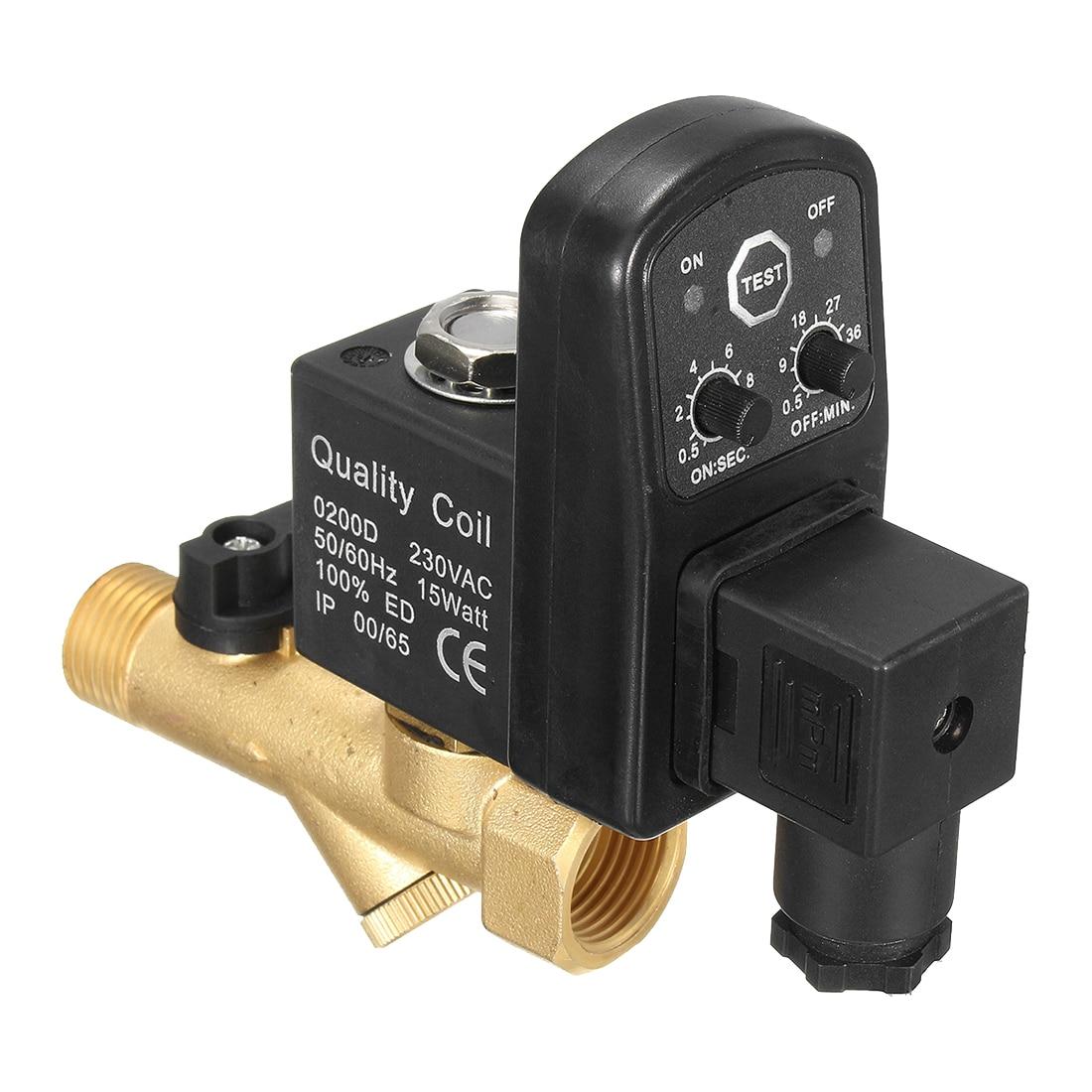 AC 220 V 1/2 pouces Électronique Chronométré 2way Compresseur D'air Réservoir de Gaz Vanne de Vidange Automatique