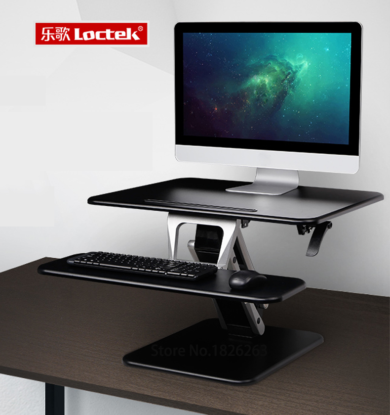 Loctek M3M Sit Stand Desk Riser Easy Up Height Adjustable Computer Laptop Desk with Foldable Keyboard