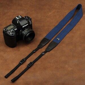 Image 2 - Cam in 8001 8015 العالمي قابل للتعديل القطن والجلود شريط كاميرا الرقبة الكتف تحمل حزام لكانون سوني نيكون SLR كاميرا