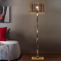 Post modern European crystal floor lamp neo classical creative vertical simple bedside living room bedroom study floor lamp led