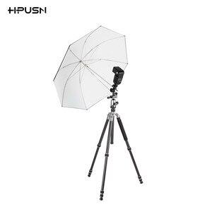 """Image 5 - Hpusn universal metal montagem flash sapato quente adaptador 1/4 """"& 3/8"""" para gatilho guarda chuva titular giratória suporte de luz l2"""