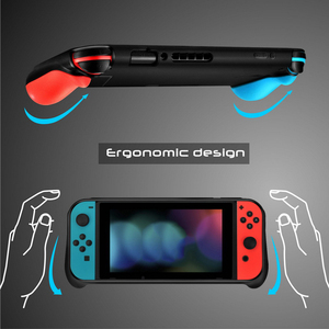 Image 4 - New Portable Case for Nintend Switch Console Carry Gaming Bag Soft TPU Case with Ergonomic Grip Shell Pouch for Nitendo Switch
