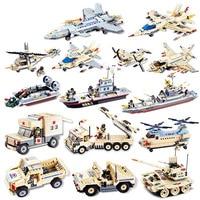 HowPlay Military Building Blocks Assembly model Fighter Tank Humvee Cruiser Ambulance Intelligent Toys for Children Kid's gift