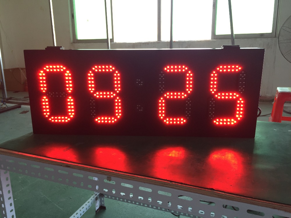 Led Temperature Screen Led Time Screen 6'' 8'' 10'' 12'' 15'' High Brightness LED Lamp 800x305mm Outdoor Led Display
