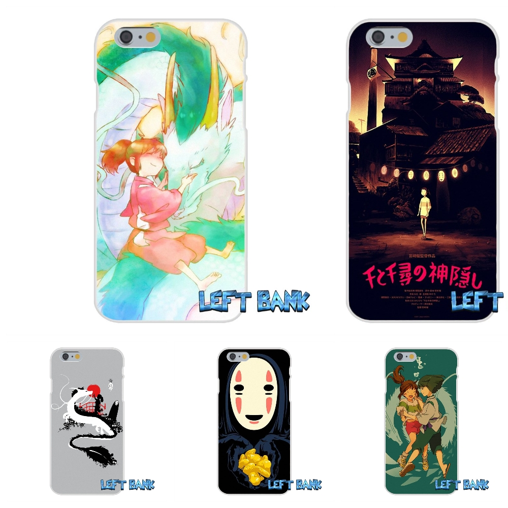 Hot Spirited Away faceless men Soft Silicone TPU Transparent Cover Case For iPhone 4 4S 5 5S 5C SE 6 6S 7 Plus