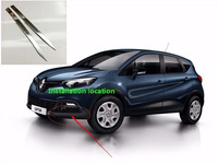 Abaiwai Car Styling For Renault Captur 2015 2016 Front Corner Trims Stainless Steel Body Protector Moldings
