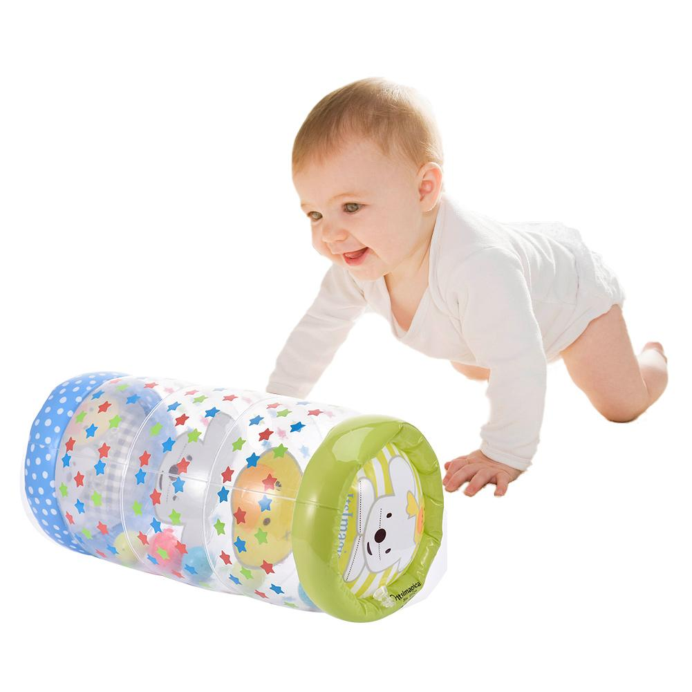 Baby Assisted Crawling Roller Toy Kids Crawling Plastic Roller Infant Inflatable Roller Exercise Early Learning Toy For Toddlers