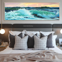 Canvas painting abstract seascape Acrylic painting wall art wall pictures for living room home decor quadros caudros decoracion3