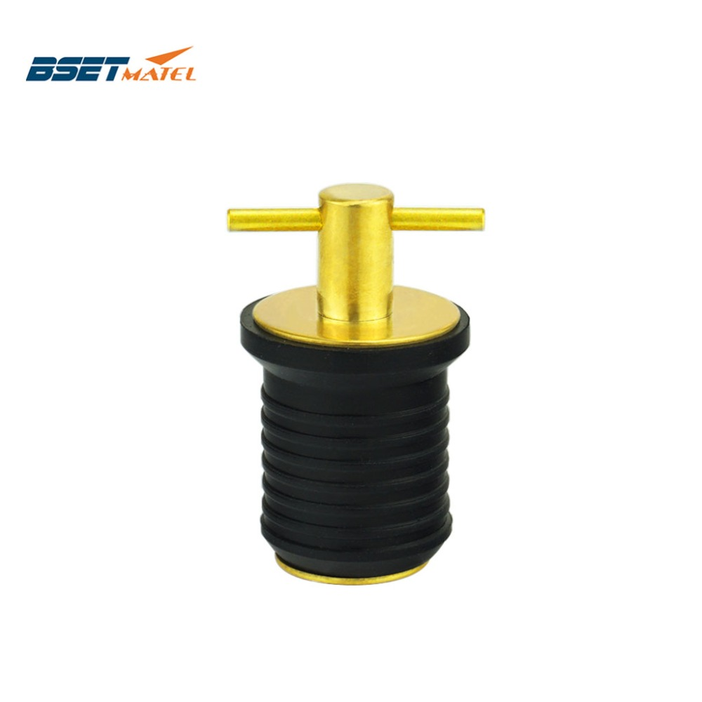 Waterproof Brass Plated Handle Snap-Handle Drain Plug Fit for Bilge Transom