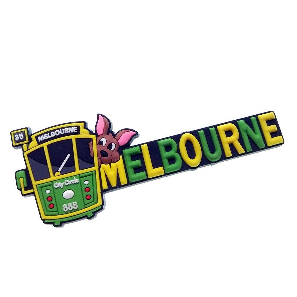 Australia Melbourne City Circle Tram Tourist Travel Souvenir 3D Rubber Fridge Magnet GIFT IDEA